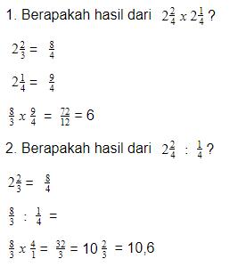 cara menghitung pecahan campuran