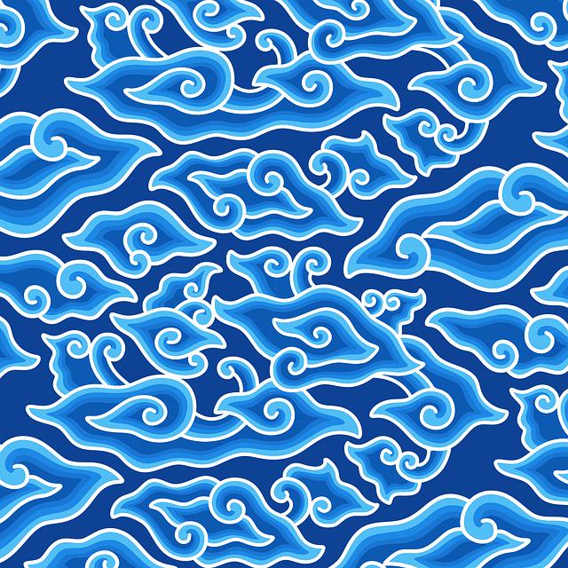 motif batik mega mendung