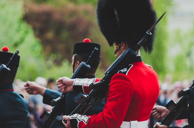 seorang prajurit monarki sebagai salah satu contoh bentuk pemerintahan