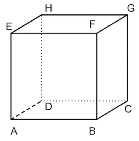 um cubo ABCDEFGH